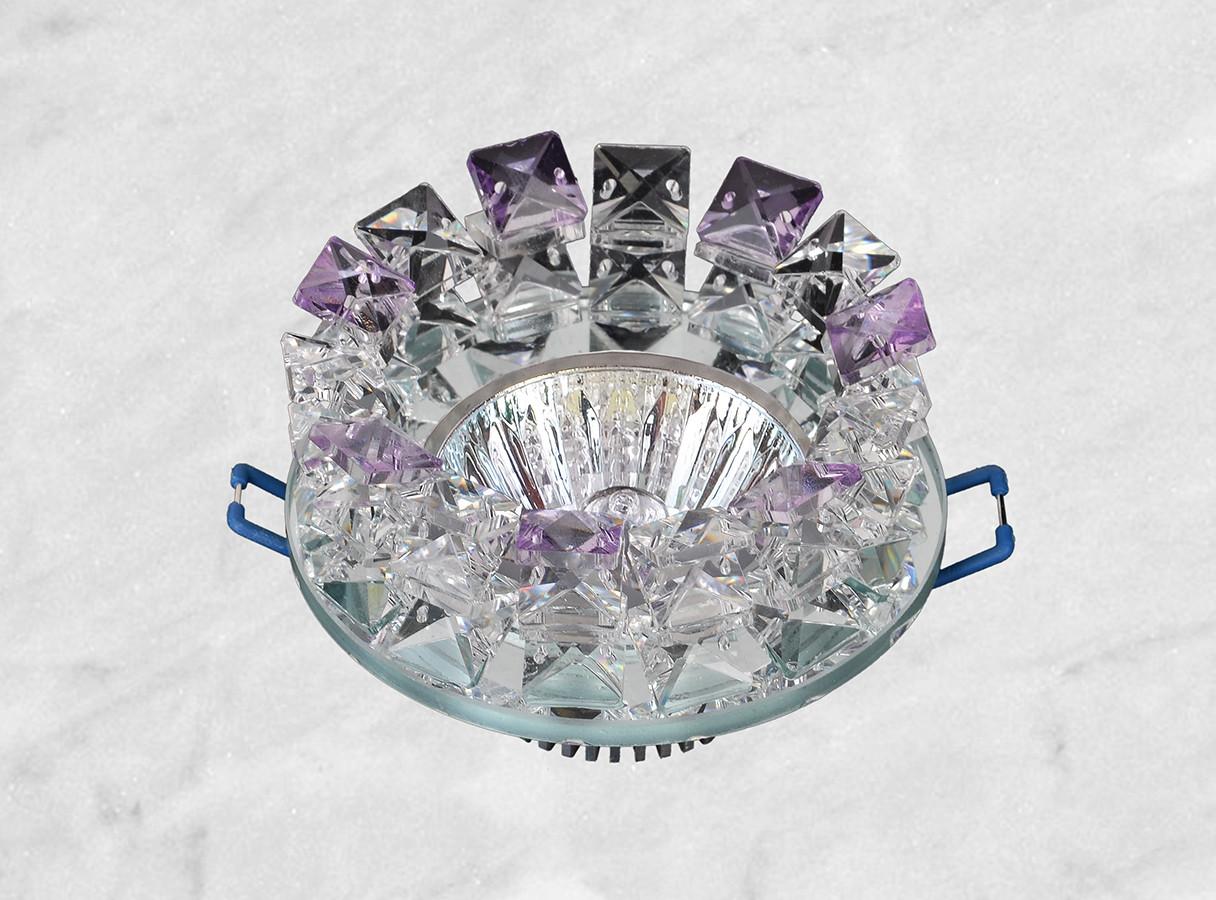 Точечный стеклянный врезной светильник (16-176)