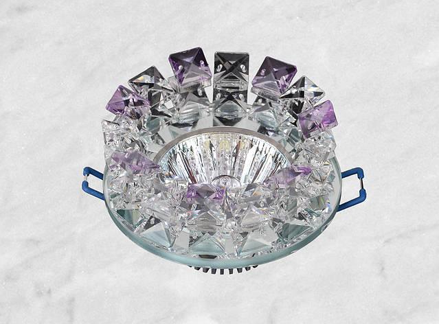Точечный стеклянный врезной светильник (16-176), фото 2