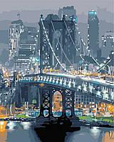 """Картина по номерам """"Бруклинский мост"""" 40*50см, фото 1"""
