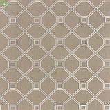 Декоративная ткань в ромбик с квадратами бежевого цвета жаккард Испания, фото 2