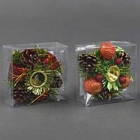 """Рождественский """"Подсвечник"""" С 22740 (480) 2 вида [Пластиковый контейнер]"""