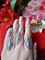 Эксклюзивный серебряный комплект Перышко