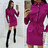 Женское стильное платье-рубашка в расцветках, фото 3