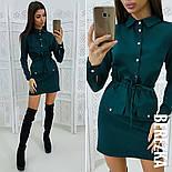 Женское стильное платье-рубашка в расцветках, фото 5