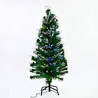 Искусственная елка с подсветкой 120 см 130 веток Зеленый (29329)