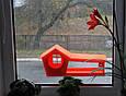 Кормушка для птиц с присосками на окно Белая, фото 2