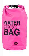 Водонепроницаемая сумка-рюкзак для вещей Water Proof Bag - Ocean Pack, 15L, гермомешок, цвет - розовый