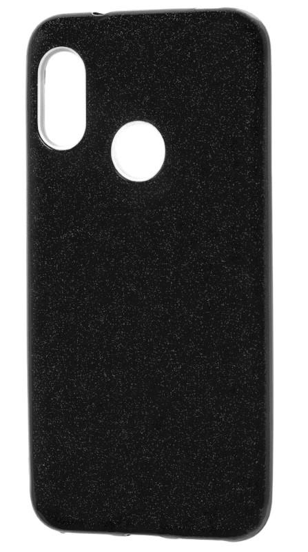 Чехол накладка Shine для Xiaomi Mi 8 С блестками TPU Черный