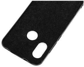 Чехол накладка Shine для Xiaomi Mi 8 С блестками TPU Черный, фото 2