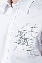 Рубашка мужская с нашивкой на груди 50PD0011 (Белый), фото 3