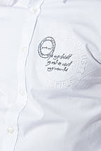 Рубашка мужская однотонная, с декором на груди 50PD0011-1 (Белый), фото 3