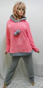 """Пижама женская теплая махровая с брюками """"Бубоны""""   642"""