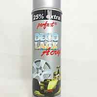 Краска DECO LACK ACRYL 9006 серебряная для дисков в аэрозоли 500мл