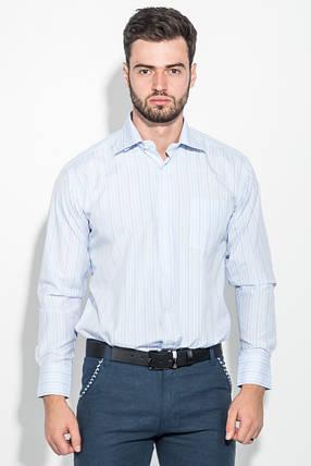 Рубашка мужская в тонкую полоску 50PD732-1 (Голубой), фото 2