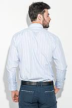 Рубашка мужская в тонкую полоску 50PD732-1 (Голубой), фото 3