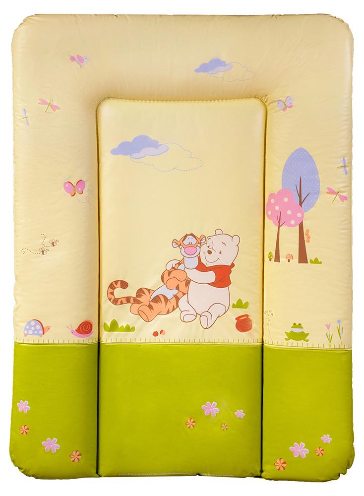 Пеленальный матрас Ceba Baby CE-102 small  winnie the pooh беж - салат