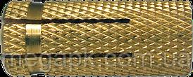 Дюбель латунный забивной М6х23, d8