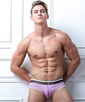 Мужские трусы слипы Junao - №3988, Цвет фиолетовый