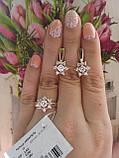 Серебряные Серьги с золотом Акварель, фото 4