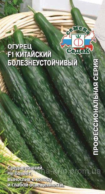 Семена Огурец  Китайский болезнеустойчивый F1,  0,2г, Седек