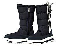 59a65db19bad59 37р Жіночі зимові спортивні дутики - чоботи темно-сині маломеркі (113-1)