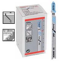 Пилка для лобзика Bosch T 118 AF, BIM 100 шт/упак., фото 1