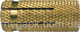 Дюбель латунний забивний М14х43, d18
