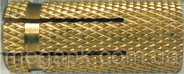 Дюбель латунный забивной М14х45, d20