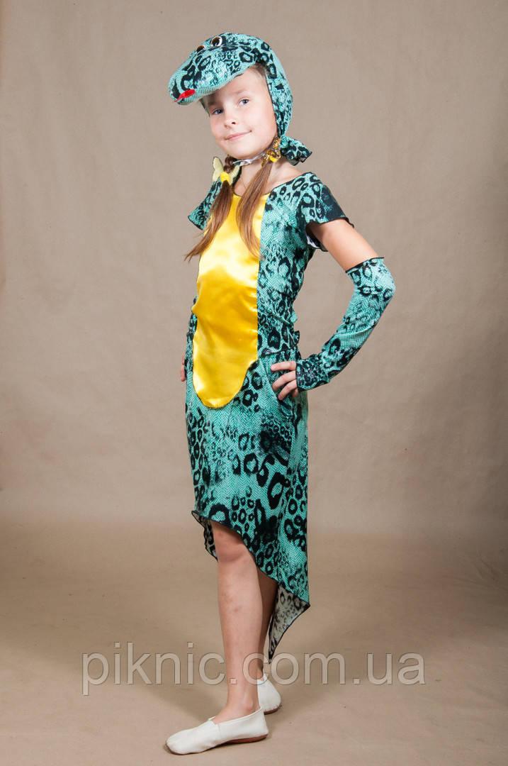 Дитячий карнавальний костюм Змія для дівчинки 5,6,7,8,9,10 років 342