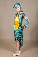 Детский карнавальный костюм Змея Змейка для девочки 5,6,7,8,9,10 лет. Маскарадный костюм Змейка