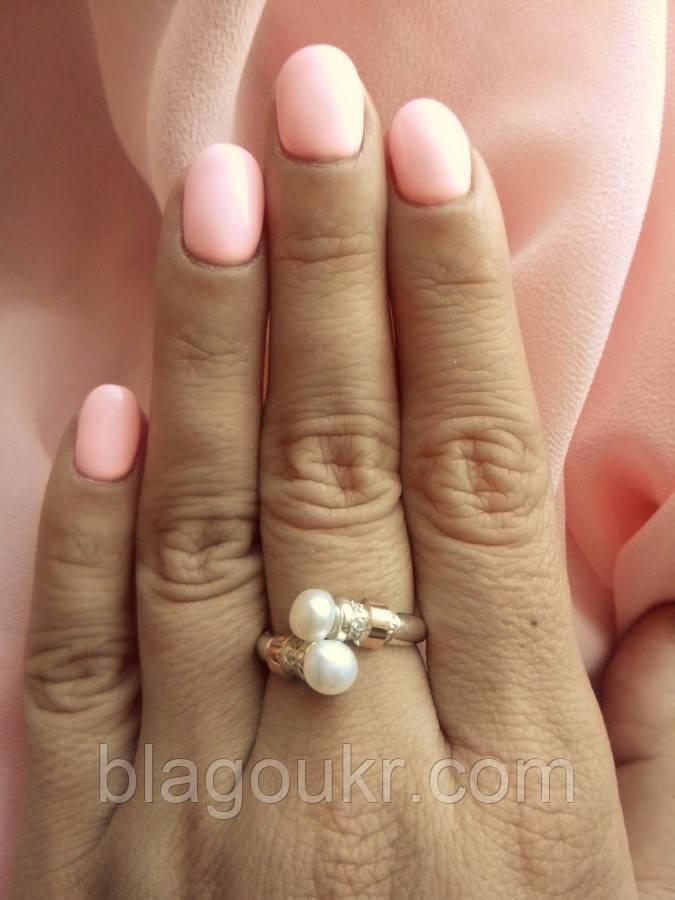 Кольцо серебряное Шедевр с жемчугом