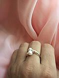 Кольцо серебряное Шедевр с жемчугом, фото 2