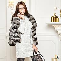 Вязаное тёплое платье , фото 1