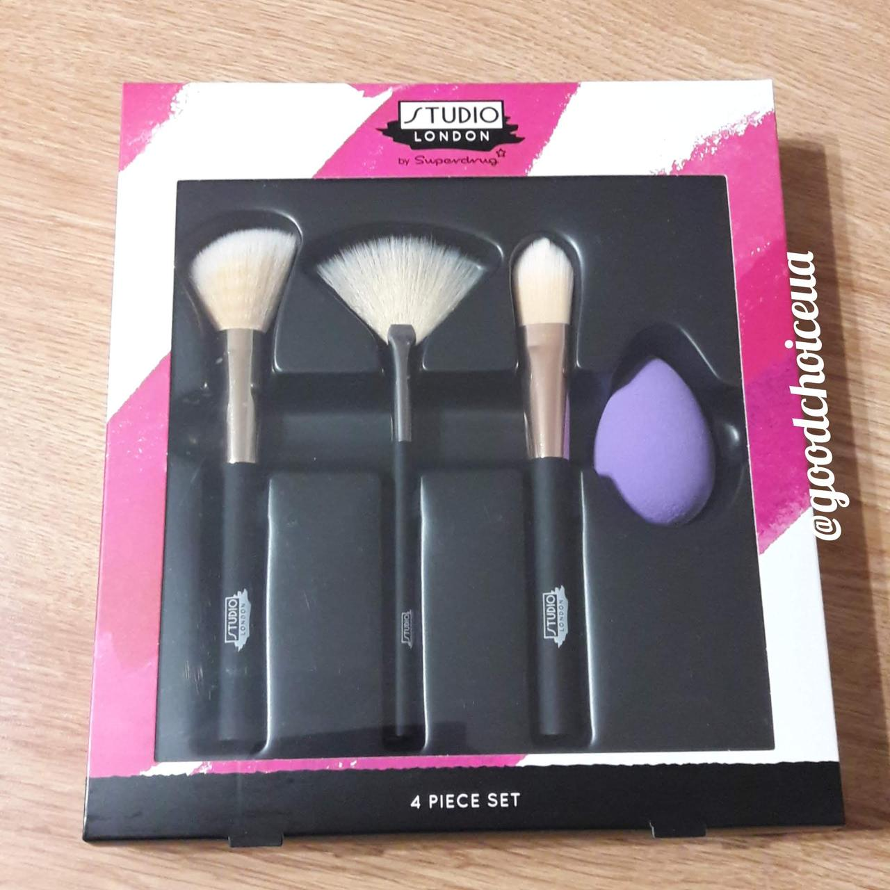 Набор кистей для макияжа Superdrug Studio London 4 Piece Brush and Sponge Set