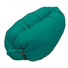 Надувное кресло-лежак зеленое, фото 2