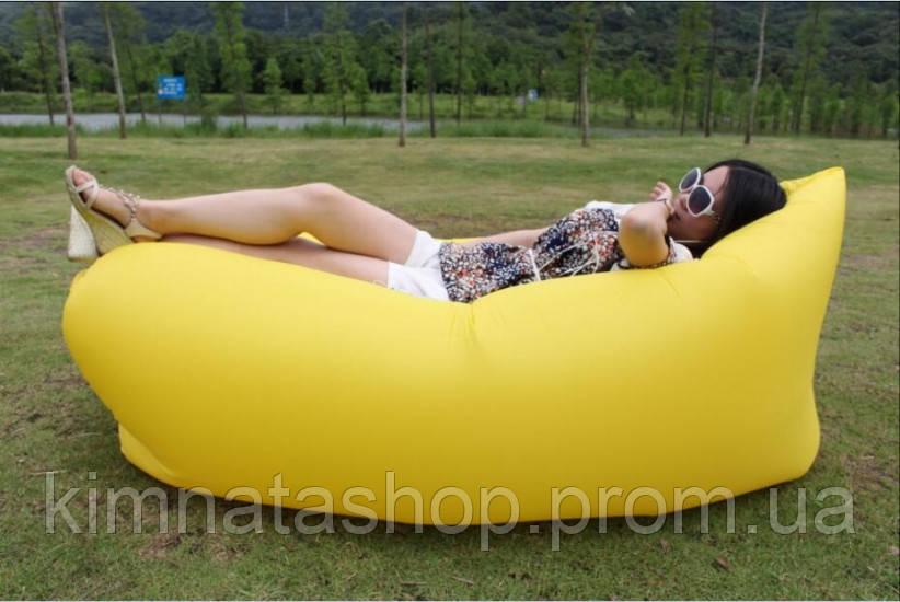 Надувне крісло-лежак жовте