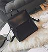 Рюкзак трансформер женский кожзам сумка Cool Черный, фото 4