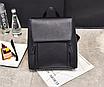Рюкзак трансформер женский кожзам сумка Cool Черный, фото 3