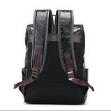 Рюкзак чоловічий чорний екокожа Etonweag, фото 3