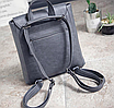 Рюкзак кожаный женский трансформер Cool, фото 8