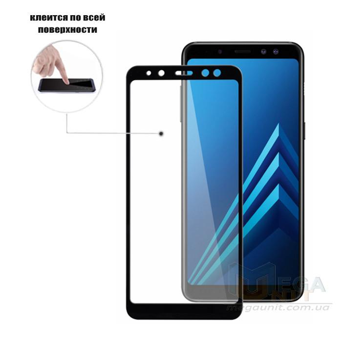 Full Glue защитное стекло для Samsung Galaxy A8-2018 A530 (клеится вся поверхность)