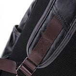 Рюкзак чоловічий чорний екокожа Etonweag, фото 8