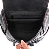 Рюкзак чоловічий чорний екокожа Etonweag, фото 9