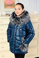 Зимнее модное пальто для девочки Матильда 146р, фото 1