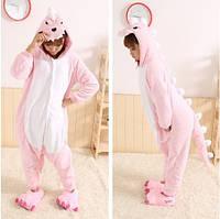 Кигуруми розовый дракон пижама F-870064