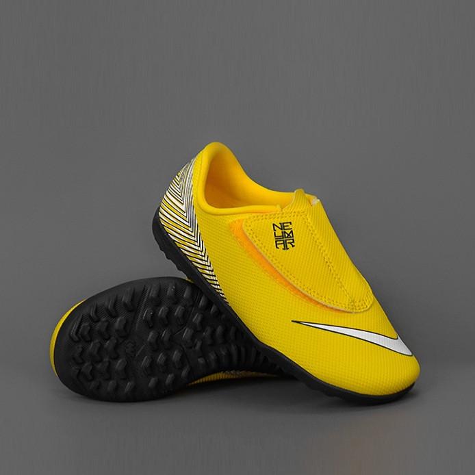 Детская футбольная обувь (сороконожки) Nike Mercurial VaporX 12 Club PS (V) Neymar TF Junior