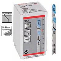 Пилка для лобзика Bosch T 118 B, HSS 100 шт/упак., фото 1