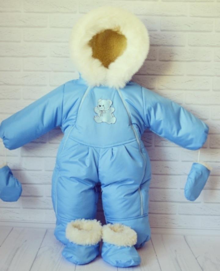 Зимние комбинезоны-трансформеры для новорожденных