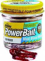 Приманка Berkley Gulp!Power Blood Worm (Мотыль) 150шт/уп