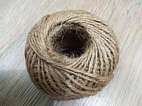 Шнур з мішковини (джут), діаметр 2 мм, в мотоку приблизно 50 м